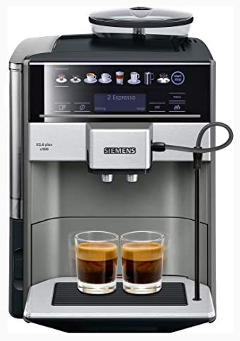 Siemens EQ.6 Plus s500 TE655203RW – Machine à café automatique avec écran tactile – Permet de préparer deux tasses simultanément – iAroma System et Aroma DoubleShot – Couleur : Anthracite