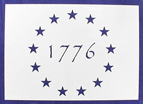 13 Star Revolutionary Field (1776) Stencil 14 Mil -10.5''H x 14.8''W - Painting /Crafts/ Templates by TCR Templates