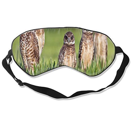 Eye Mask Nine Amazing Facts About Owls Stylish Eyeshade Sleep Mask Soft for Sleeping Travel for -
