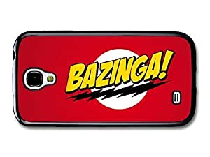 AMAF ? Accessories Big Bang Theory Bazinga! Illustration Red Background case for Samsung Galaxy S4
