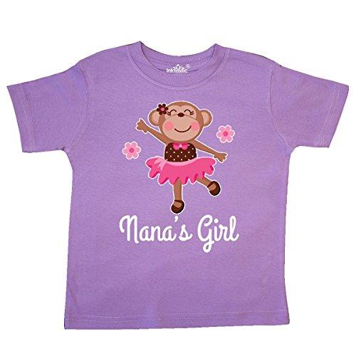 inktastic - Nana Girl Ballerina Monkey Toddler T-Shirt 3T Lavender 28ccc