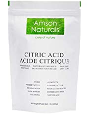 Citric Acid (Made in Canada) 1lb / 16 oz /454 g – 100% Pure Food Grade, use for bath bombs, descaling, household cleaner.