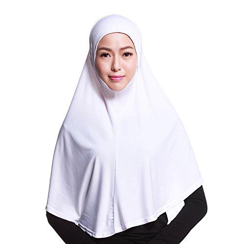 Zhengpin Muslim Hijab Amira Islamic Solid Soft Scarf Long Hejab Head Shawls