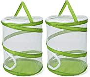 """RESTCLOUD Pop-up Insect and Butterfly Habitat Cage Terrarium Upgrade Version See Through Easier 12"""""""