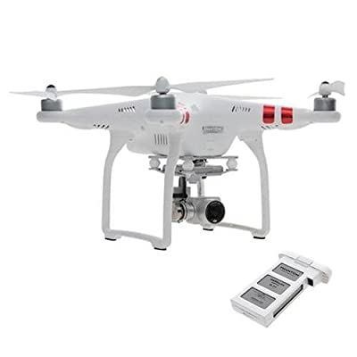 DJI Phantom 3 Standard Quadcopter Aircraft with 3-Axis Gimbal and 2.7k Camera, with Remote Controller - Bundle with Spare Battery