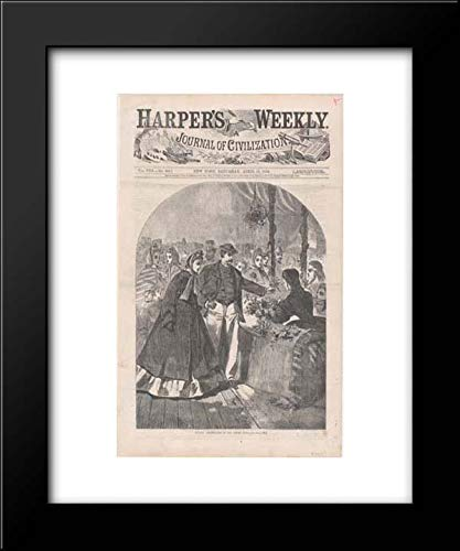 Winslow Homer - Harper's Weekly - 15x18 Framed Museum Art Print- Floral Department of The Great Fair (Harper's Weekly, Vol. VIII) (Harper Floral Print)