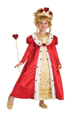 Rubie's Red Heart Princess Costume - Medium (8-10) - Kids Queen Of Hearts Costumes