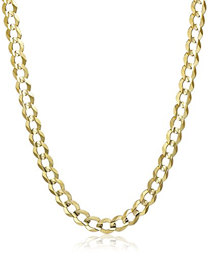 Mens 14k Gold 7mm Cuban Chain Necklace