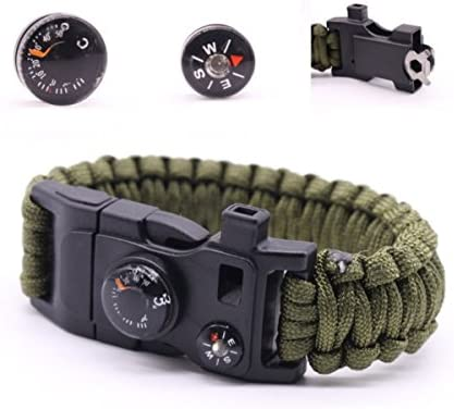 outdoor camping paracord survival bracelets with metal clasp emergency tool YEXJ