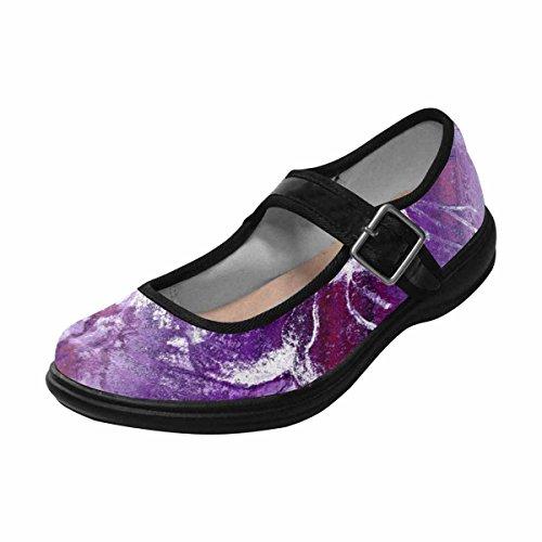 Interestprint Mujeres Comfort Mary Jane Flats Zapatos Casual Para Caminar Multi 7