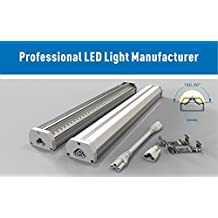 Led Shop Fluorescent Replacement: 4 feet, 40w, 6000k Super Bright, 4400 lumens, Silver, Life Span 50,000 hours, ETL, DLC Certified, 3 Years Warranty