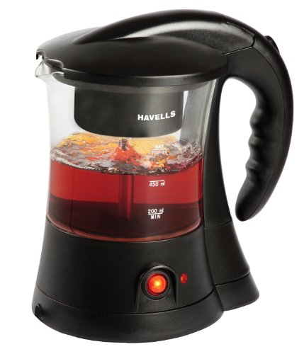 Havells Crystal 600-Watt Stainless Steel Tea and Coffee Maker (Black)