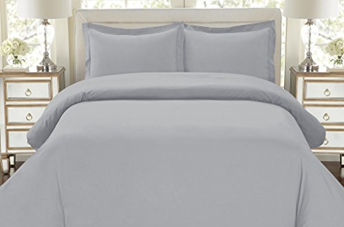 Hotel Luxury 3pc Duvet Cover Set-ON SALE TODAY-1500 Thread Count Egyptian Quality Ultra Silky Soft Top Quality Premium Bedding Collection, 100% -Queen Size Artic Ice Blue Today Sales
