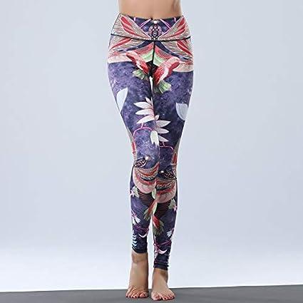 GSYJK Women Yoga Pants Leggings For Fitness Printed Sport ...