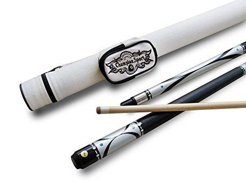 Brand New Champion Silver Billiards Pool Cue stick 18oz, White Pool Case, Cuetec Or Champion Billiard Glove, Retail Price $159.59 ()