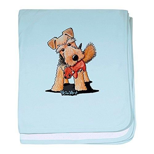 CafePress - Welsh Terrier With Squirrel - Baby Blanket, Super Soft Newborn Swaddle