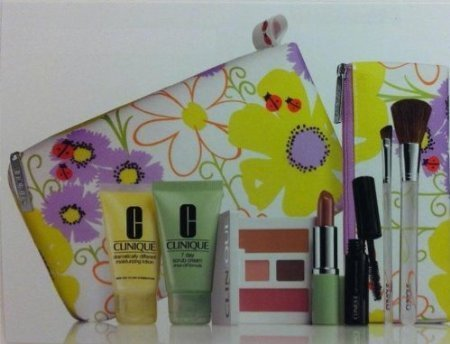 - CLINIQUE Gift Set :Cosmetic Bag +6 Pieces Cosmetics -GWP