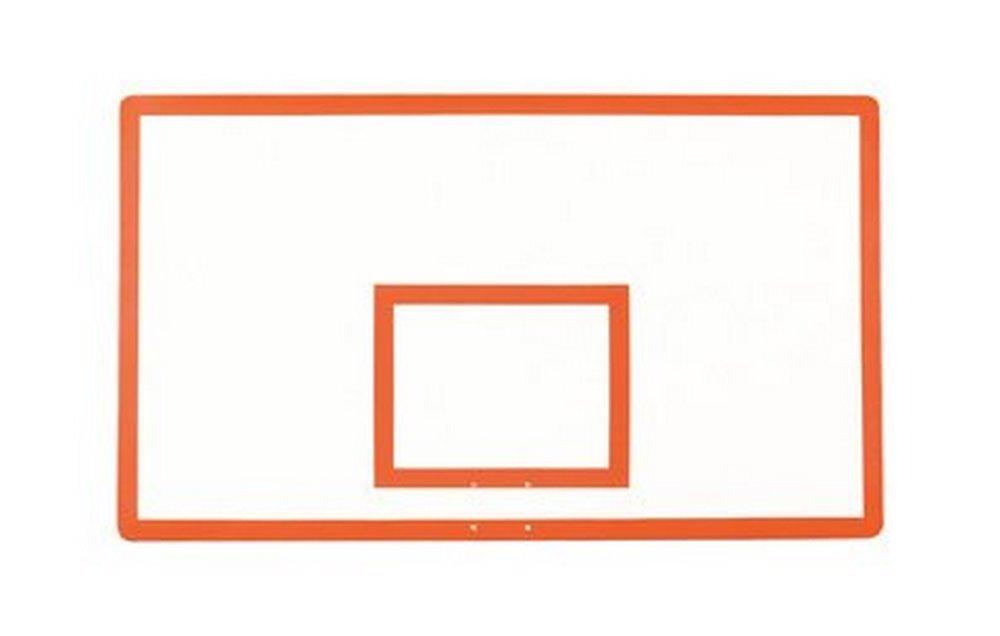 最初チームft280ファイバーグラス42 x 72 in。長方形ファイバーグラスbackboard44 ;スカーレット B01HC0DZ66