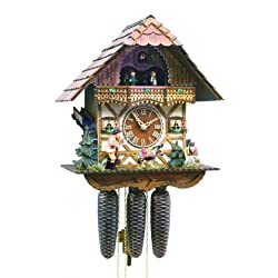 Black Forest Forest VDS Certified 8 Day Musical Cuckoo Clock with Hand Carved Herdsman with Whip by Rombach and Haas (Extra 20% Off Sale Price - Code romba2)