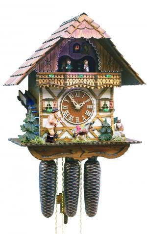 Black Forest Forest VDS Certified 8 Day Musical Cuckoo Clock with Hand Carved Herdsman with Whip by Rombach and Haas Sale Price - Code romba2