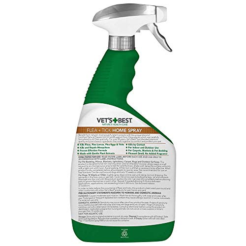 Vet S Best Natural Flea And Tick Home Spray 32 Oz Usa