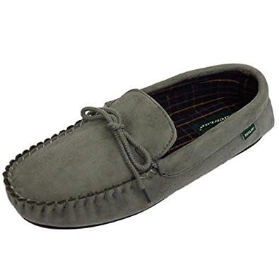 flache Herren Hellbraun Slipper Pantoffeln ohne Bügel Winter Hausschuhe Gre