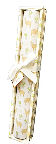 GC Naturals Whimsical Desert Llama's & Cacti Set of 5 Fragranced Drawer Liners (Vanilla Lemongrass) by GC Naturals