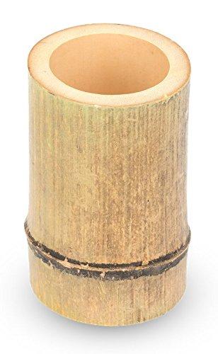 Amazon De Nadeco Bambus Vase Natur Ca 10x7x7cm Natur Vase Deko