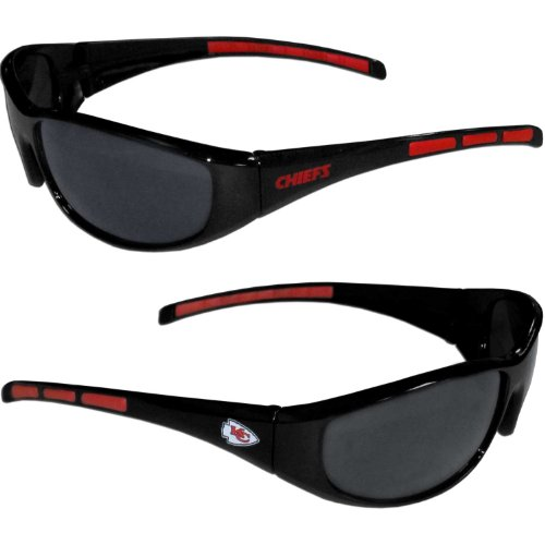 NFL 3-Dot Wrap Sunglasses (Kansas City Chiefs) ()