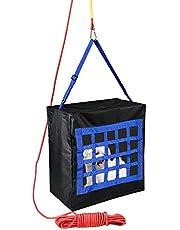 Brandevacuatie-Apparaat Uitrusting voor Kinderen of Huisdieren tot 35 kg - Vluchttas voor Noodgevallen door Ramen of Balkontouw 15 m inclusief Karabijnhaak (Groot)