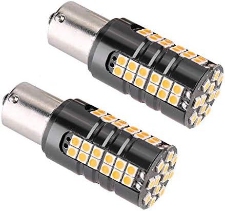 Gorgeri LEDターンライト、2pcs車の自動LED電球ターンインジケータ信号バックアップ逆ランプ(1156)