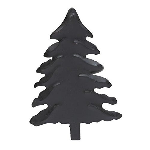 Design Imports A Walk in The Woods Table Linens, Wrought Iron Napkin Rings, Set of 4, Fir Tree