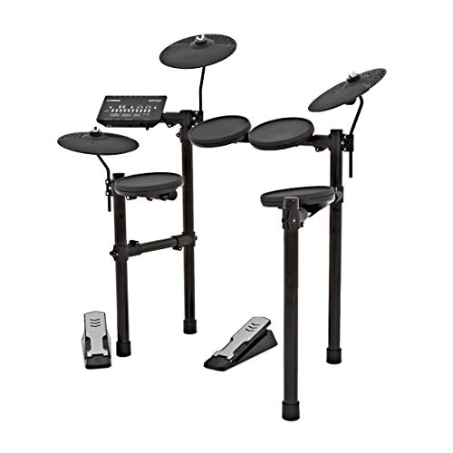 Yamaha DTX402K Electronic Drum Kit - Acoustic Effects and Electronic Sounds for an Ideal Voice, 10 Built-In Training Functions, App for iOS/Android Available, Black