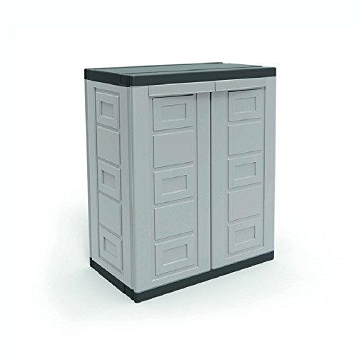 Contico 2 Shelf Plastic Garage Base Utility Cabinet, (Heavy Duty Base Utility Cabinet)