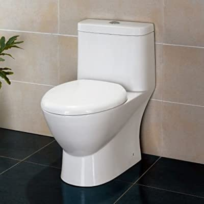 Ariel TB346M Platinum Elongated One Piece Toilet with .8/1.32 GPF Dual Flush and,