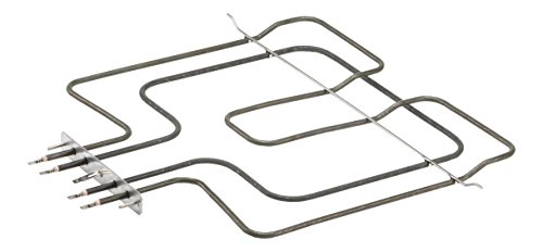 DREHFLEX® - Oberhitze / Heizung / Heizelement - passend für diverse Bauknecht / Whirlpool / Ignis / Functionica Herde / Backofen - passend für Teile-Nr. 481225998466