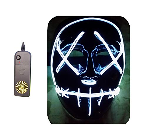 Trippy Lights The Original LED Light Up Election Year First Purge Halloween Movie Mask -