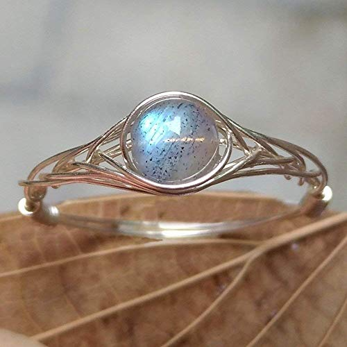 - size6 Real moonstone ring 925 Sterling Silver Handmade Rings (5-12# available)