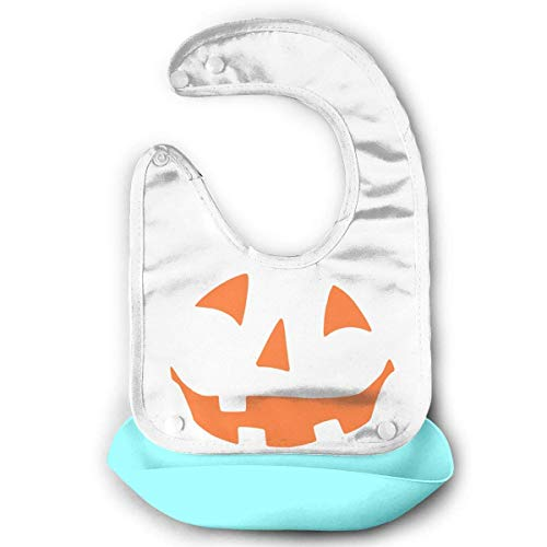 Bib Easy Halloween Costume Fun Tee Waterproof Silicone Bib Unisex,Make Mealtime Easier&Less Messy -