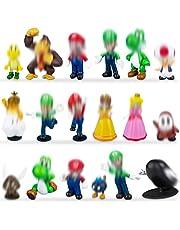Super Mario minifigurer tårta toppning cupcake figurer födelsedagsfest levererar party kaka dekoration leveranser 18 set