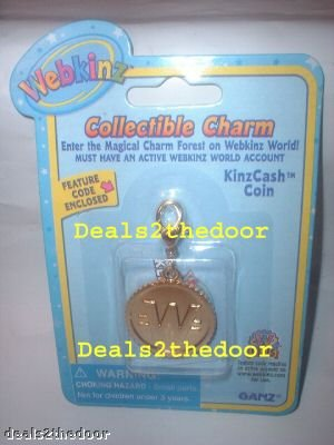 Webkinz Collectible Charm Kinzcash Coin by Ganz