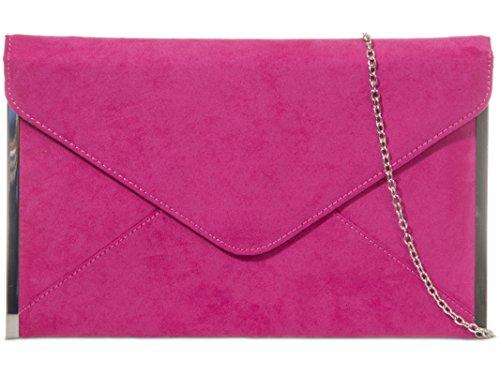 pour multicolore rose fuchsia Pochette fi9 femme gris axq5W1w