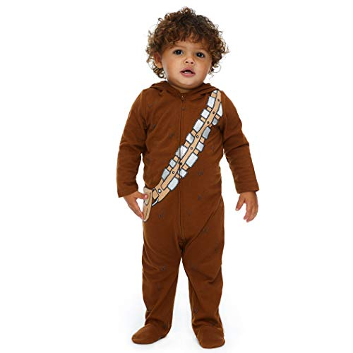 Star Wars Chewbacca Baby Boys Costume Zip-Up Footies with Hood 3-6 Months