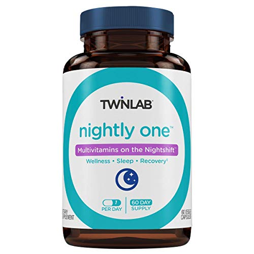 Twinlab Nightly One | 60 Capsules | Dietary Supplement Multivitamins for Nightshift | Supports Sleep, Health and Well Being