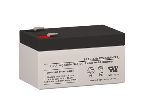 12 Volt 3.5 Amp Hour Sealed Lead Acid Battery Replacement with F1 Terminals by SigmasTek SP12-3.5