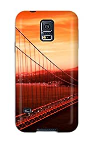New Arrival Cover Case With Nice Design For Galaxy S5- Golden Gate Bridge