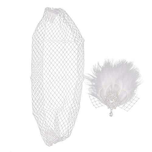 Diamante Feather Clip Fascinator Wedding Races Proms Bridal Hair Accessory
