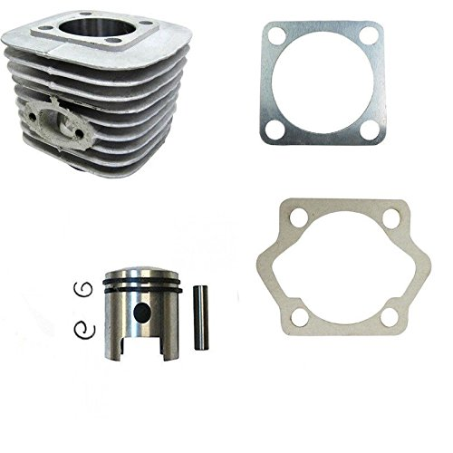 dolphin1986 Cylinder Body with Piston Set for Long Connecting rod-40mm, 2 Stroke for Gas Motorized Bicycle 66cc/80cc ()
