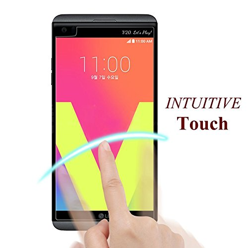 [Pack of 3] LG V20 Screen Protector,0.3mm Ultra Thin Anti-Glare & Anti-Fingerprint Tempered Glass with Lifetime Replacement Warranty