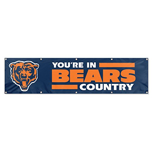 Side 2 Banner Nfl (Party Animal Chicago Bears 8'x2' NFL Banner)